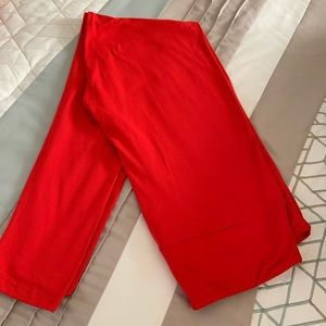 Valentines Day Red Leggings